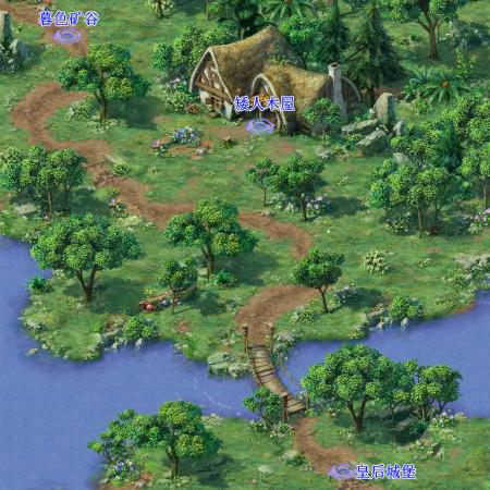 梦幻森林地图手绘