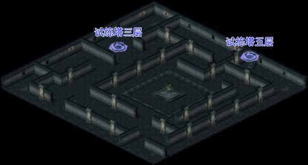 游戏地图--试练塔四层