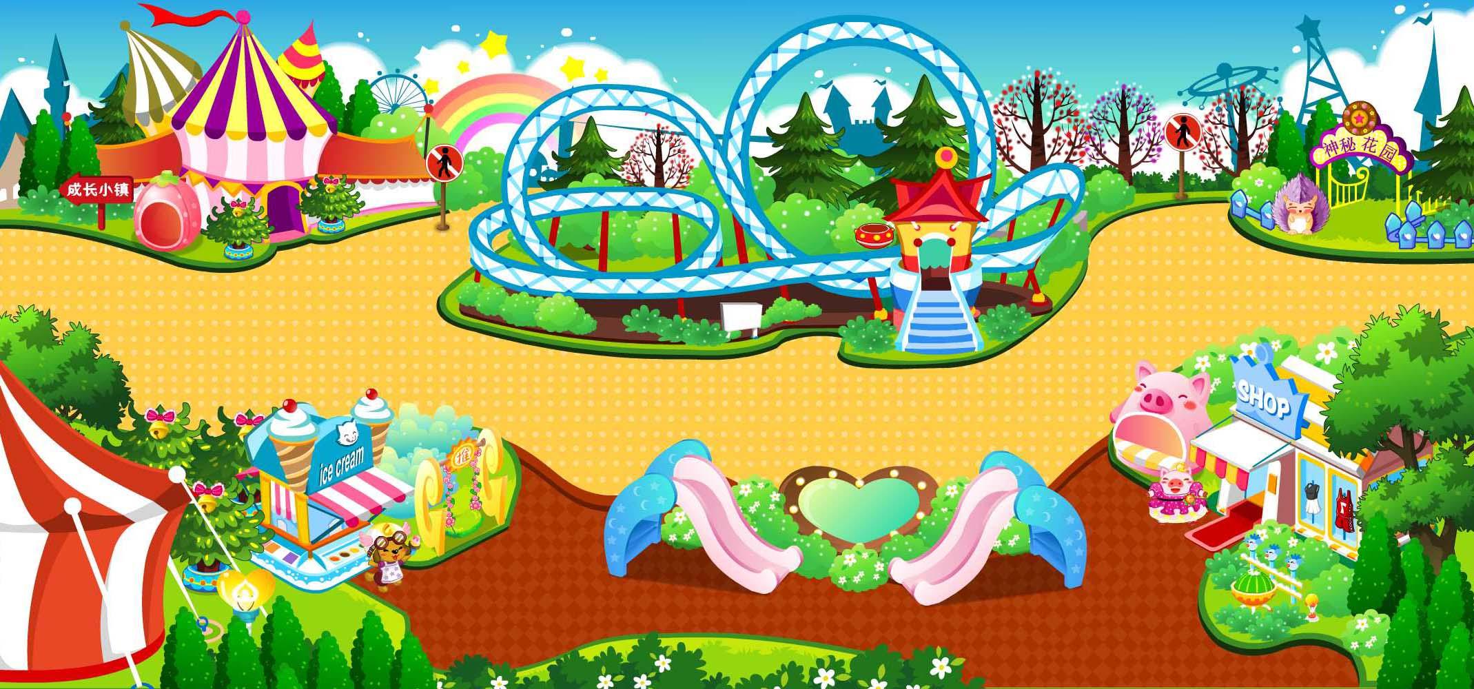简单的游乐园地图