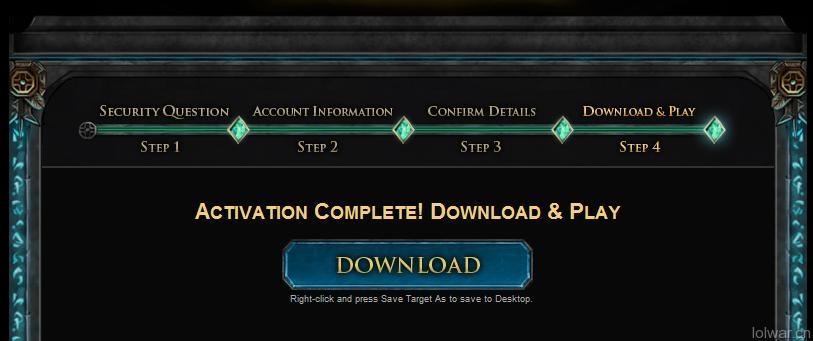 注册成功,可以点此下载游戏