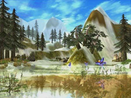 是世界著名的风景旅游胜地游戏中的艾尔顿森林同样山势雄...