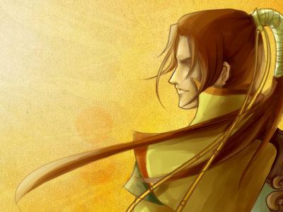 手绘欣赏:帅哥藏剑的背影 4格漫画
