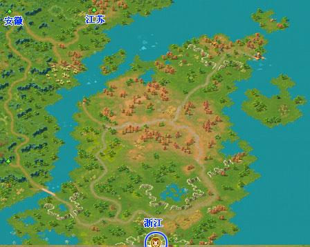浙江地图可前往达安徽和江苏. 江西地图可前往湖南.图片