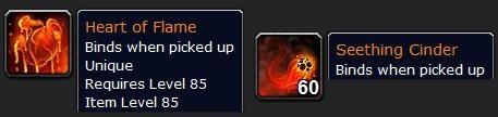 烈焰之心(猜测由炎魔掉落)、沸腾的熔渣(需收集60个才可以做橙杖)