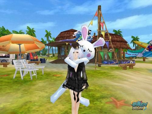 """""""兔子乖乖""""就是这样一款专为热舞宝宝们设计的可爱服饰,小小的兔耳朵"""