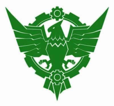 帝国标帜,象征军纪的鹰徽搭配机械的核心齿轮,坚不可摧!