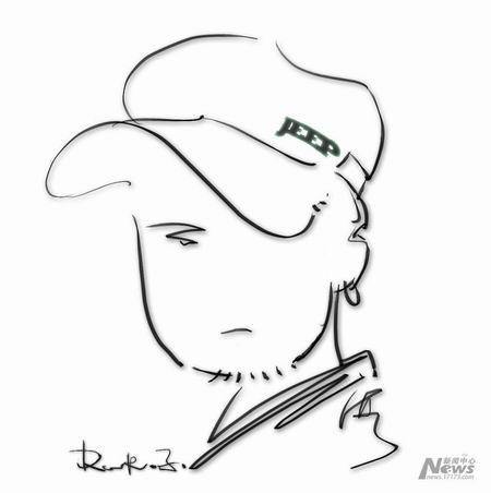 海哥手绘自画像