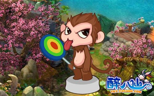调皮捣蛋的小猴子