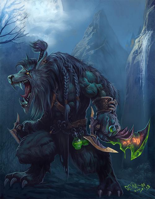 魔兽玩家原创作品:霸气的狼人盗贼