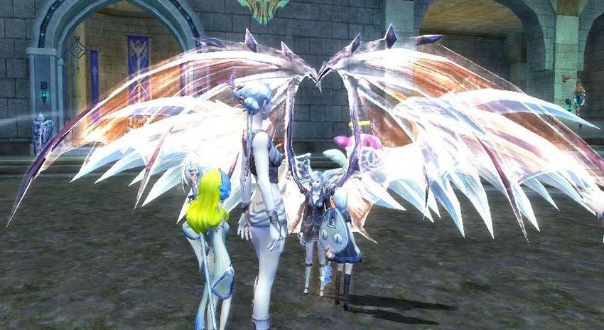 6区已开出国服首个紫武大剑加翅膀--永恒之塔-aion