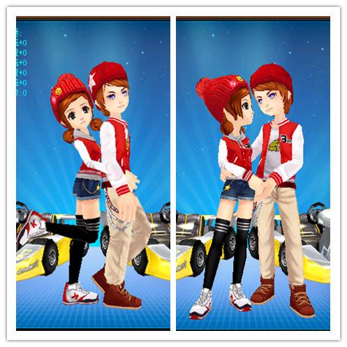玩家盤點qq飛車中各種秀恩愛的情侶裝圖片