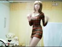 韩国美女热舞自拍bj主持李由美连体紧身裙热舞 美女