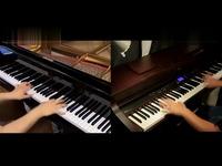 动漫 手绘 自由/片段 进击的巨人/ 自由の翼/ 钢琴版/钢琴版