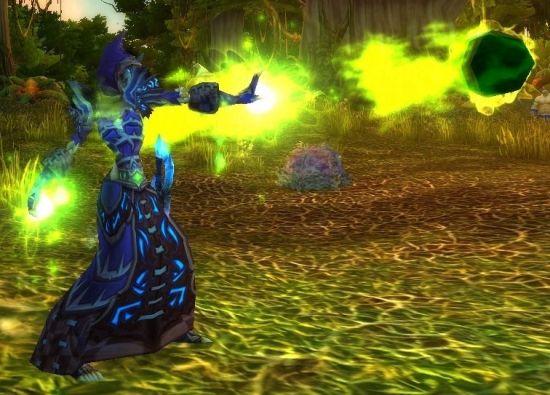 魔兽世界 雷锋 术士/还会将术士现有的火焰法术效果和技能图标从红色升级成绿色!>>...