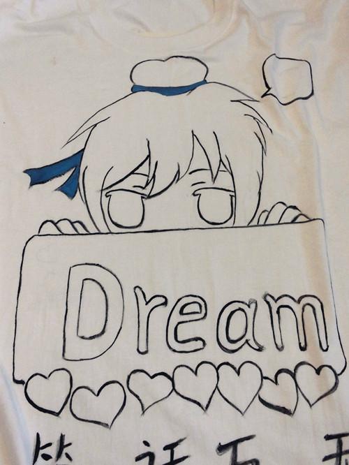 妖精漫画 给自己手绘梦幻t恤