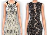 《模拟人生4》MOD  高贵大方黑白两色长裙MOD