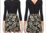 《模拟人生4》MOD 黑色素雅连衣裙mod