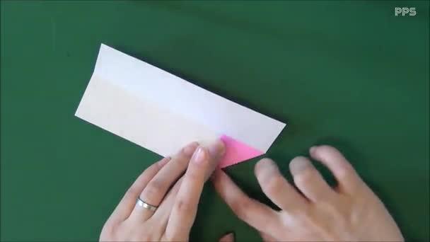 儿童折纸大全 缎带蝴蝶结的折法-游戏视频 视频集锦