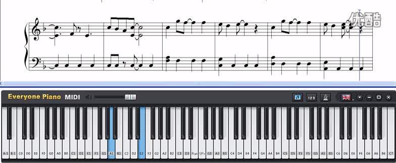 eop 键盘钢琴 midi五线谱下载跟弹-人人钢琴 精彩短片