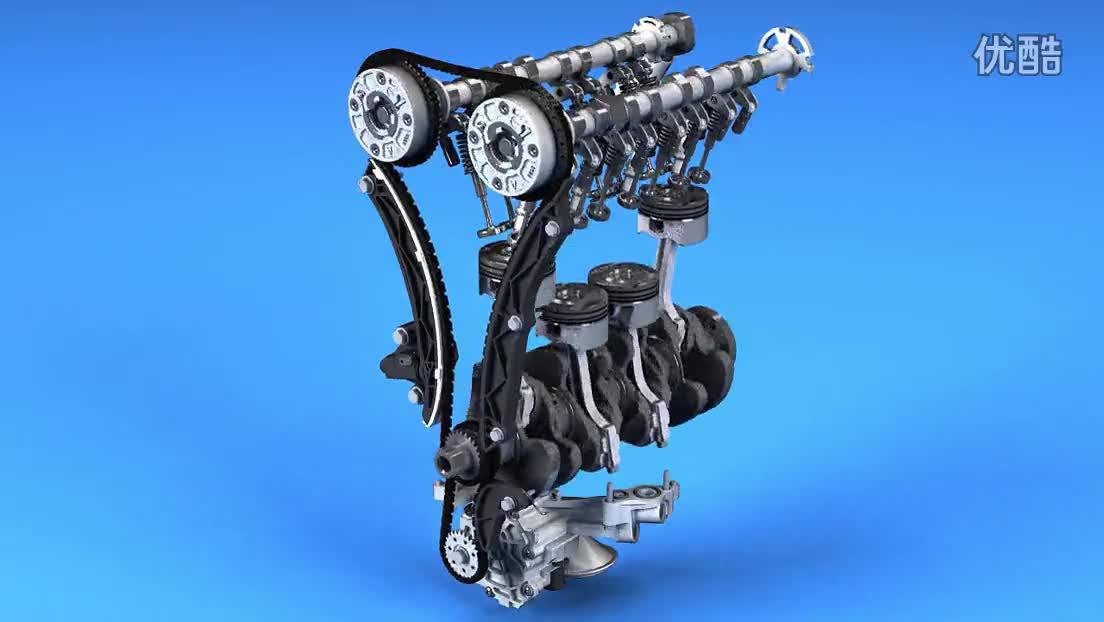 4t发动机配气机构演示-car