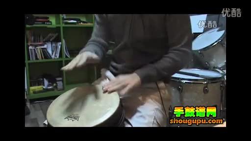 非洲鼓伴奏教学im yours 手鼓谱
