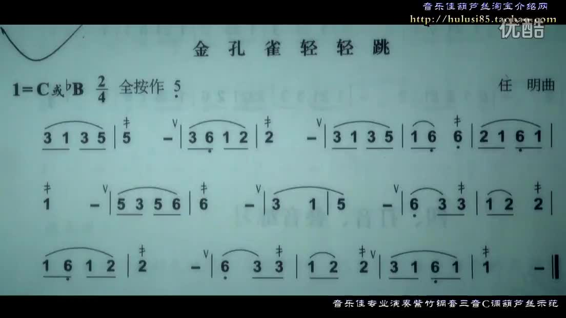 葫芦丝教程初级简谱