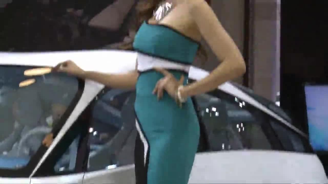 韩国车展极品性感美女车模大搜罗 视频