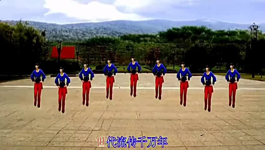 高清 广场舞 九寨沟的春天-视频