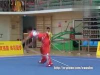 14年传统男子全国冠军赛(领结教程)套路猴棍0diy武术项目图片