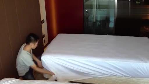 五星级酒店客房铺床_标清-视频 精华视频