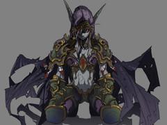 魔兽世界人物插画:美艳无双女王大人