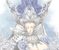 玩家手绘图 龙渊冰雪区的白雪娇娘子